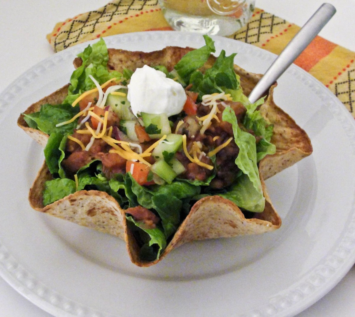 Vegetarian Bean Taco Salad   My Fancy Pantry