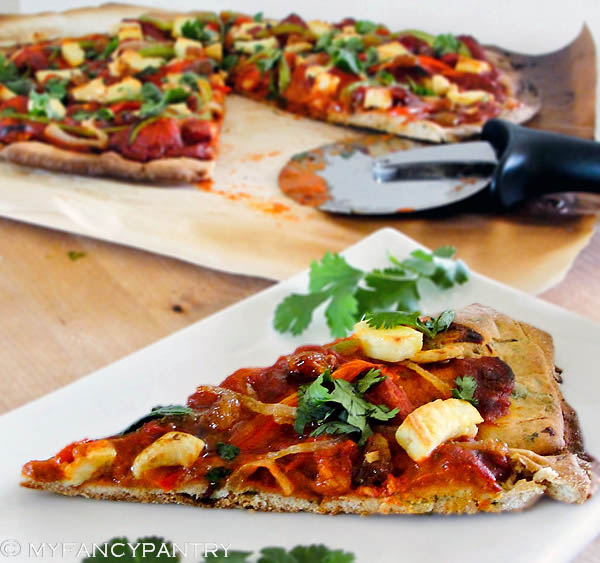 Chicken Tikka Masala Pizza! | My Fancy Pantry