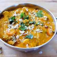 Vegetarian (Vegan) Navratan Korma --A Sweet and Mild Indian Curry
