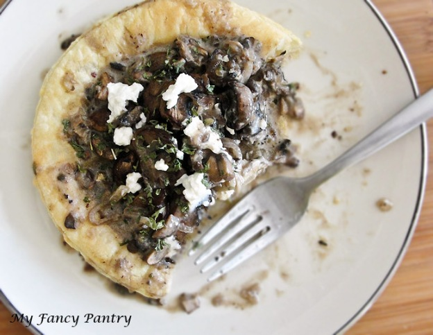 caramelized onion, fennel and mushroom puff pastry tart