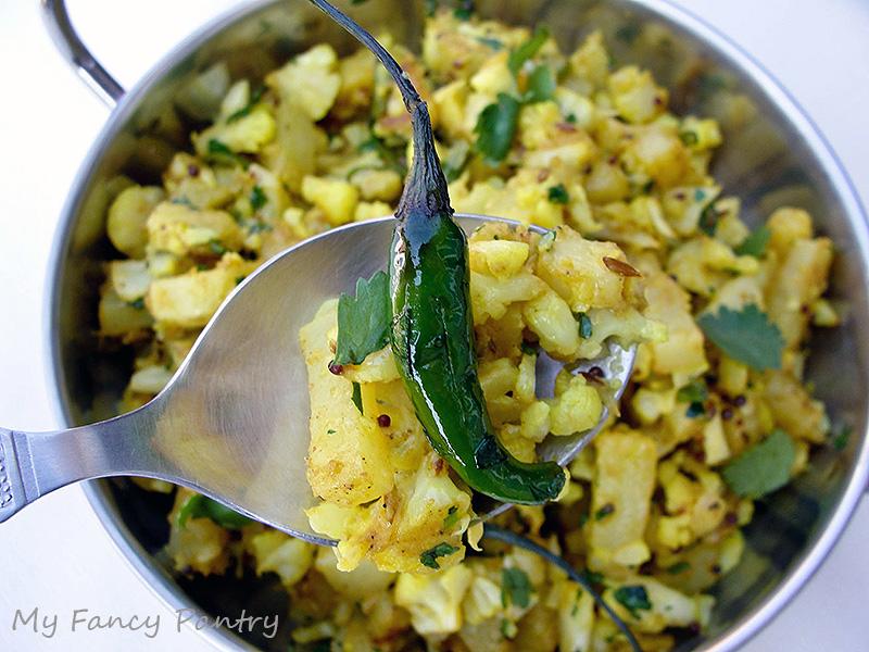 Aloo Gobi (Indian Spiced Potatoes and Cauliflower) | My Fancy Pantry