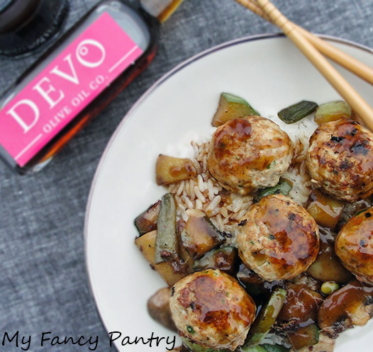 Saucy Asian Turkey Meatballs