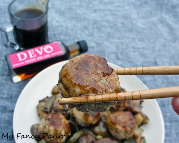 Asian Inspired Meatballs in Brown Sauce