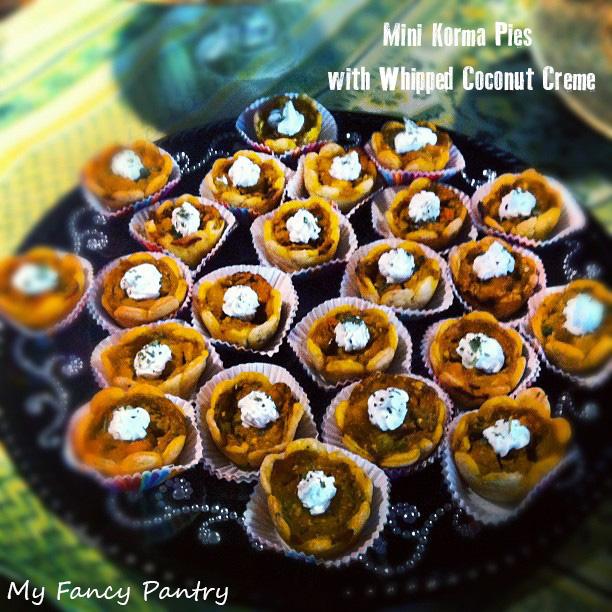 Mini Korma Pies...ready for taste-testing