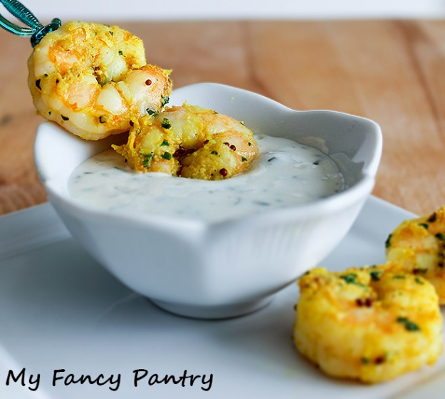 Easy indian spiced shrimp with garlic and cilantro yogurt sauce my indian spiced shrimp with garlic and cilantro yogurt sauce shrimp appetizers healthy shrimp recipes forumfinder Gallery