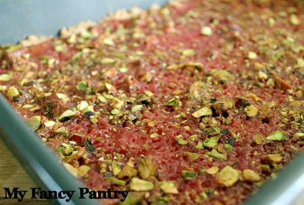 rose pistachio bars