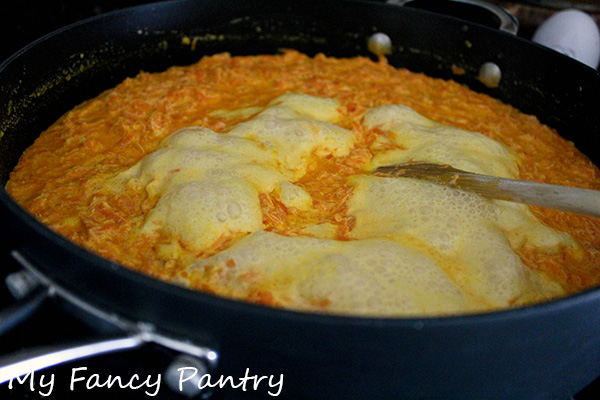 gajar halwa cooking