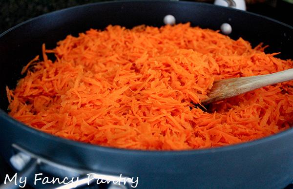cooking carrots for gajar halwa