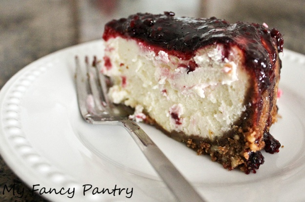 Easy blackberry cheesecake
