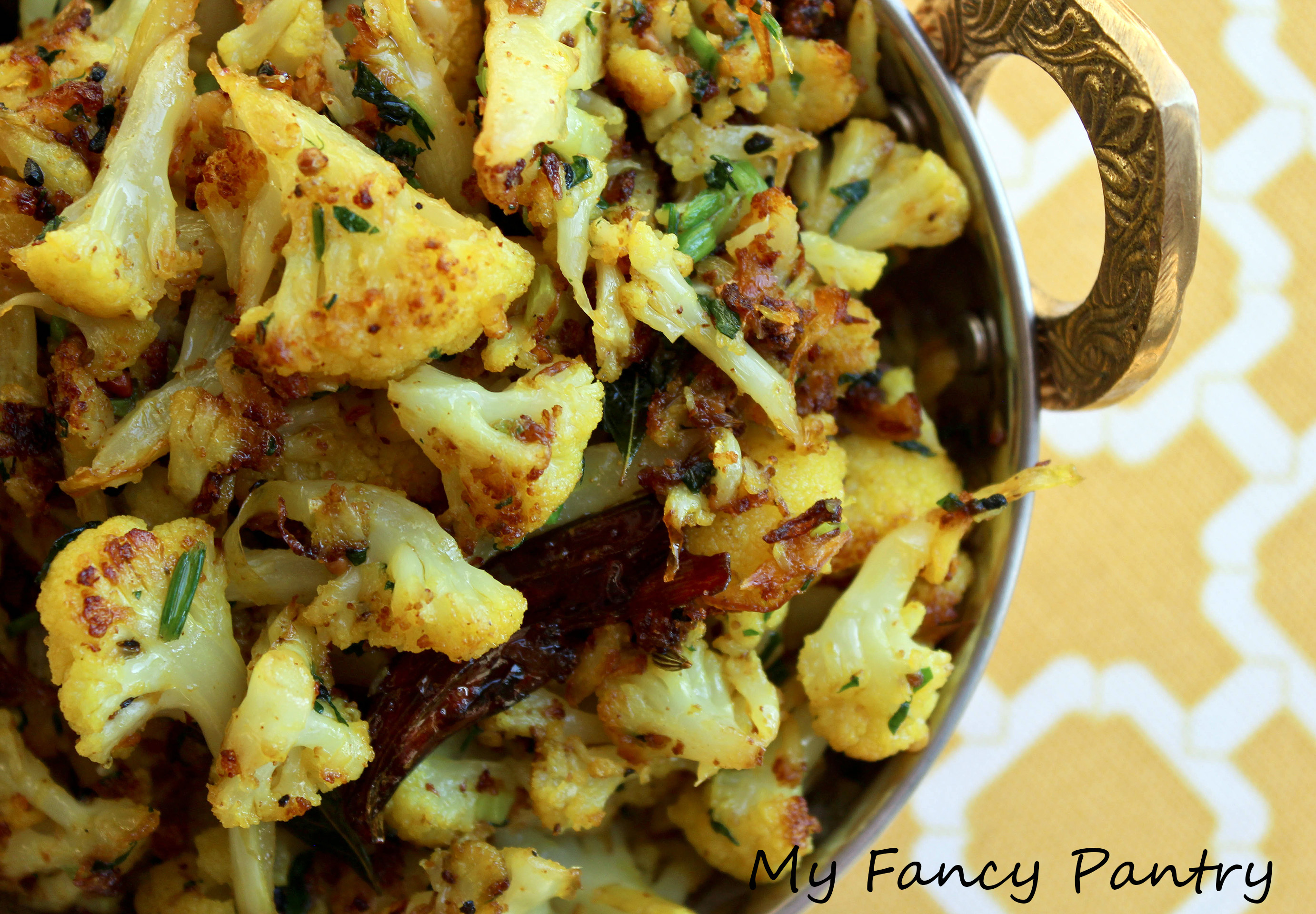 Simple and delicious gobi sabzi indian spiced cauliflower my cauliflower fry indian fried cauliflower forumfinder Gallery