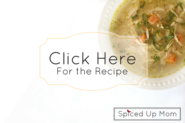 chicken soup with pesto in the instant pot